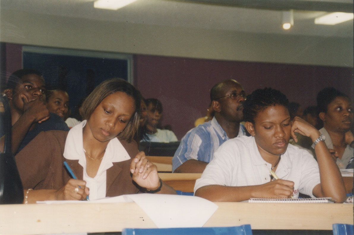 Students attending Richard Byles Presentation