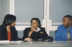 PM students in discussion