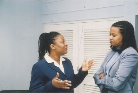 Joan and Cherryl in dialogue