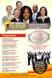 Upcoming Programmes for Fitz Ritson and Associates
