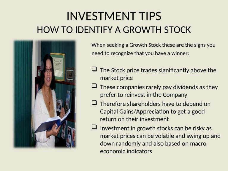 Investment Tips - How to Pick a Growth Stock